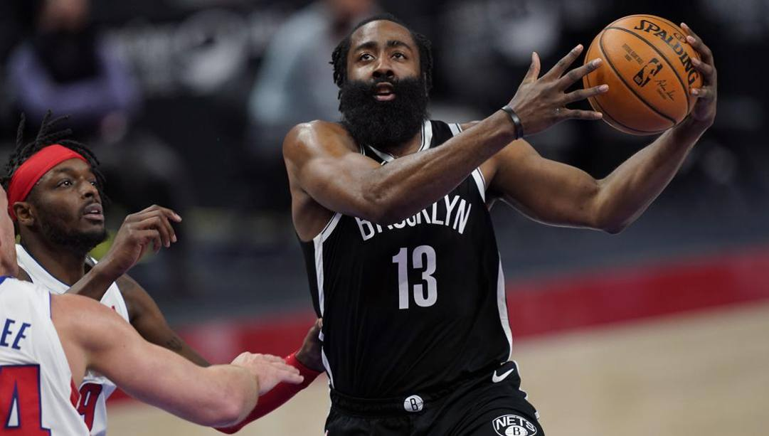 James Harden, 31 anni, prima stagione a Brooklyn. LaPresse