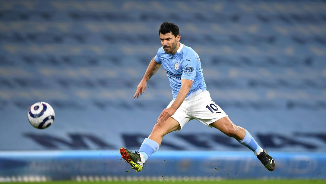 Sergio Aguero, attaccante del Manchester City. Getty