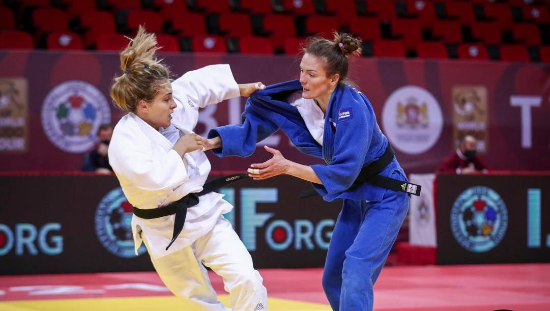 Odette Giuffrida con la russa Polikarpova nel Grand Slam vinto a Tbilisi