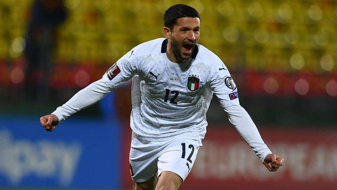 Stefano Sensi dopo il gol alla Lituania. Getty