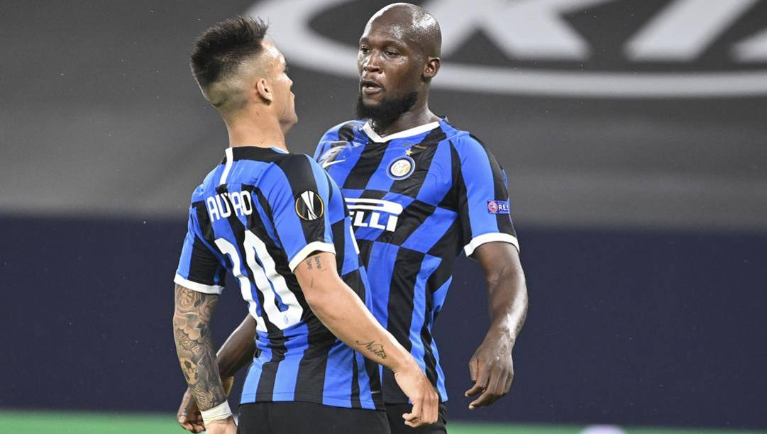 Lautaro e Lukaku, attaccanti dell'Inter. Ap