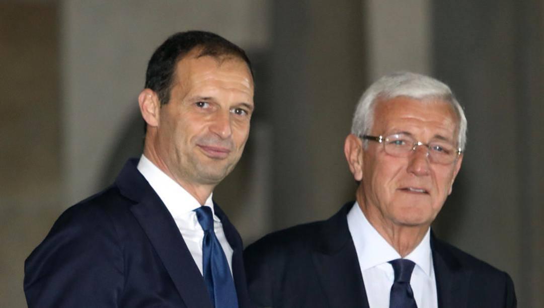 Massimiliano Allegri e Marcello Lippi - Foto LaPresse