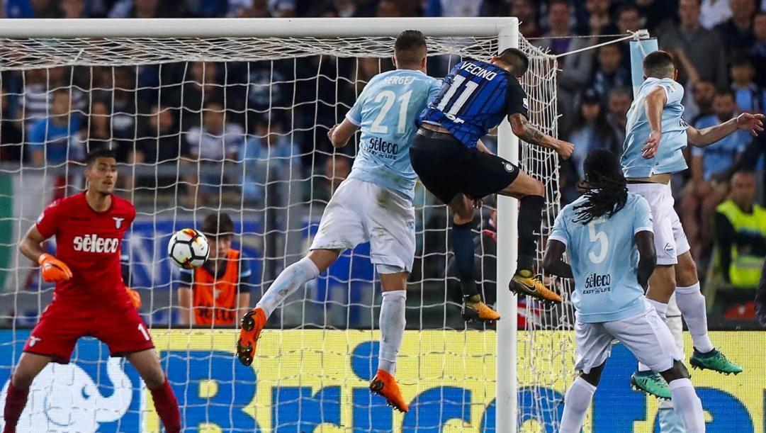 Il gol Champions di Vecino alla Lazio. Ansa