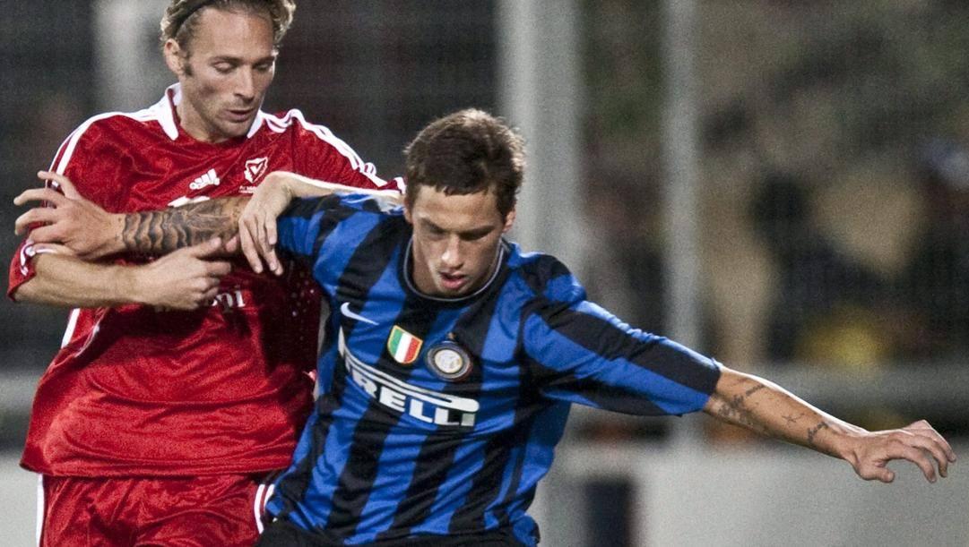 Marko Arnautovic ai tempi dell'Inter di Mou. Oggi ha 31 anni. Epa