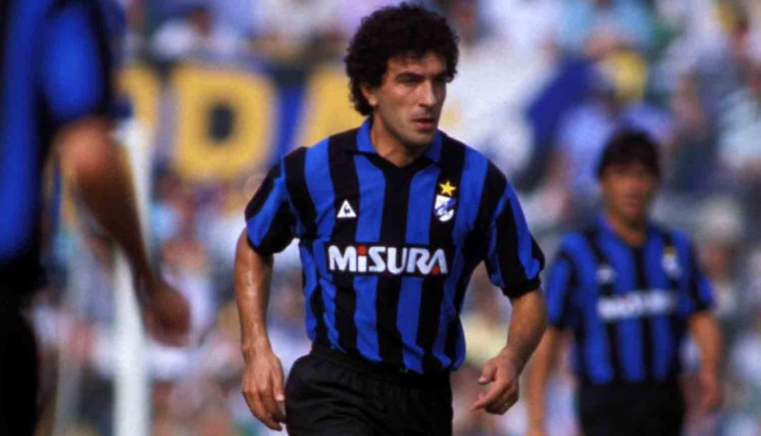 Gianfranco Matteoli in maglia Inter.Liverani
