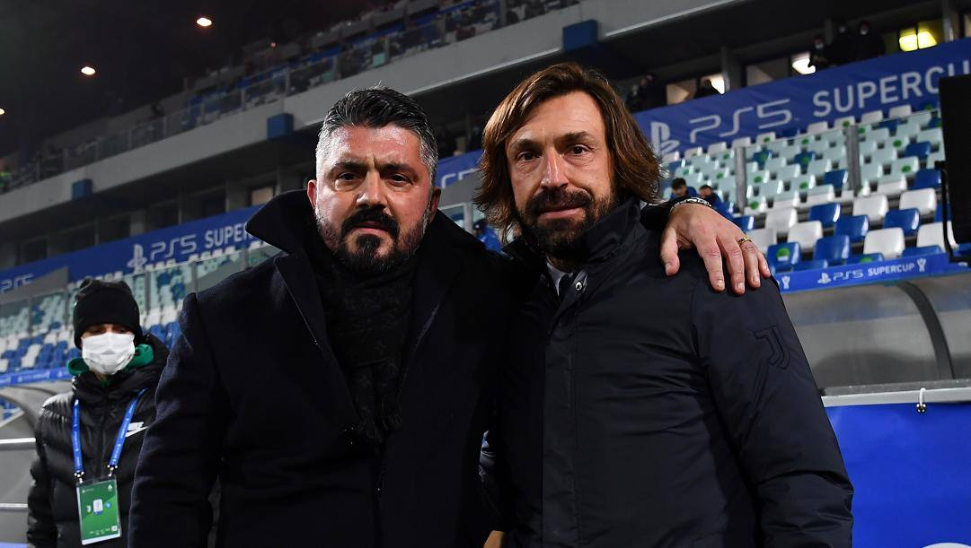 Gennaro Gattuso, 43, e Andrea Pirlo, 41. Getty Images