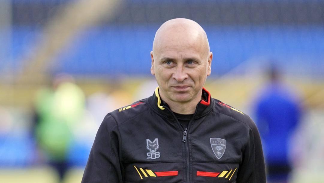 Eugenio Corini (50 anni), allenatore del Lecce secondo in Serie B. LaPresse