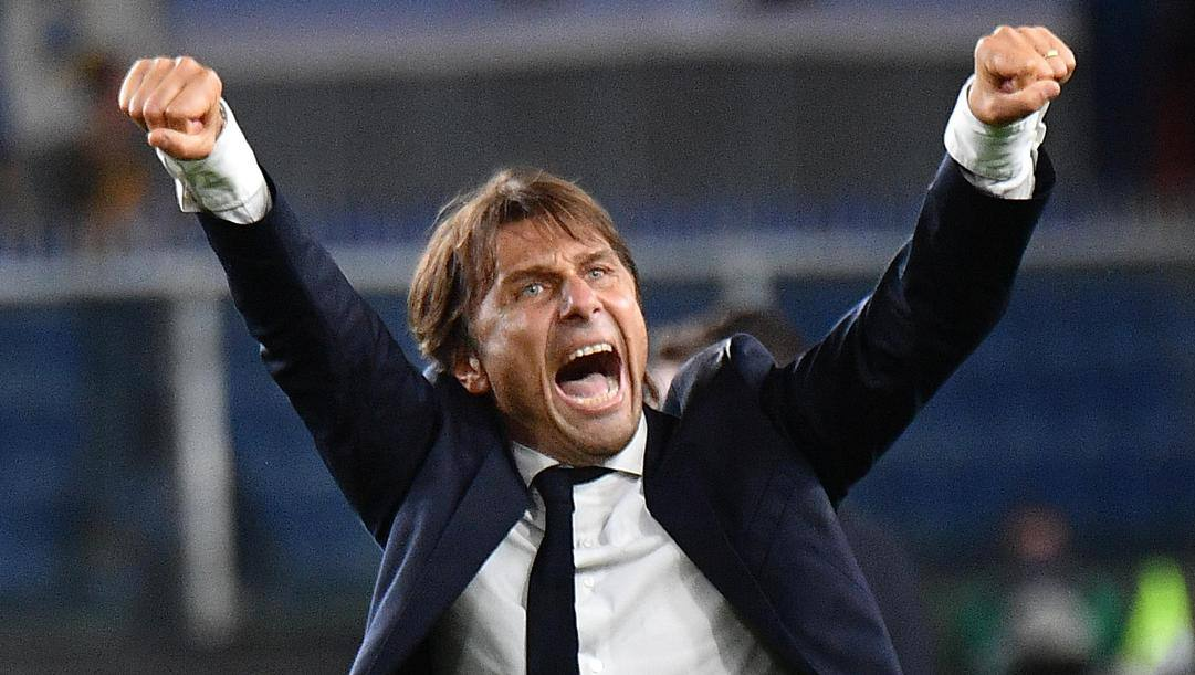Antonio Conte (51 anni), seconda stagione sulla panchina dell'Inter. ANSA