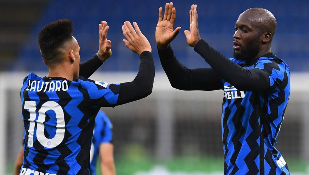 Lautaro Martinez e Romelu Lukaku. Getty