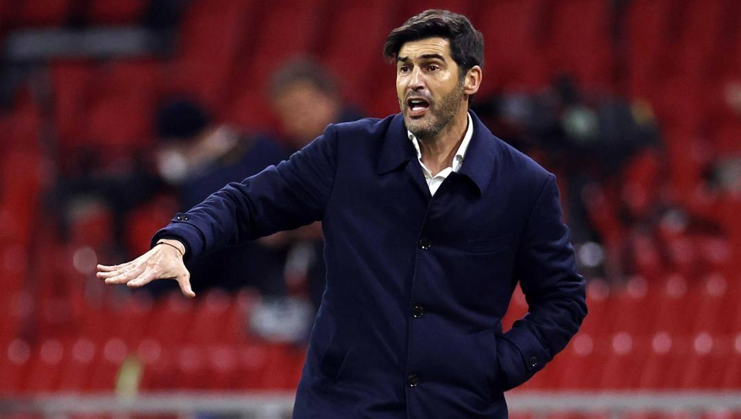 Paulo Fonseca, allenatore della Roma. Epa