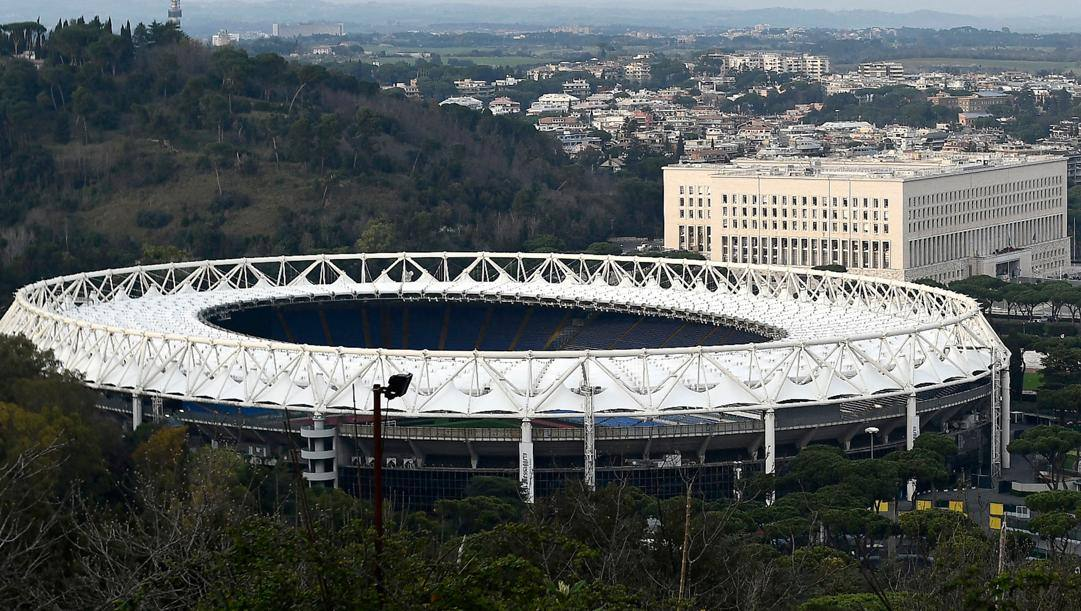Lo stadio Olimpico di Roma. Afp