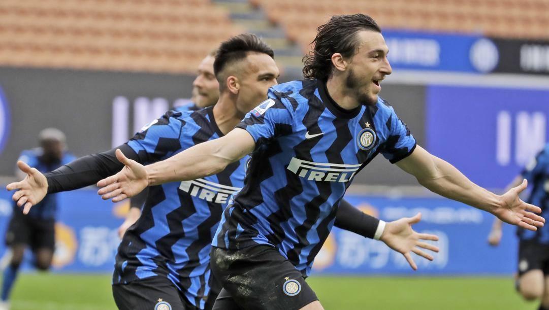 Matteo Darmian esulta dopo il gol. Ap