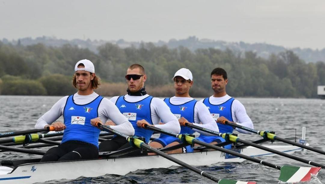 Da sinistra Giacomo Gentili, Luca Rambaldi, Andrea Panizza e Simone Venier