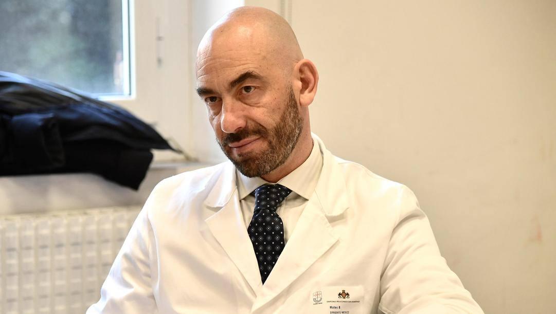 Nella foto il prof Matteo Bassetti. ANSA