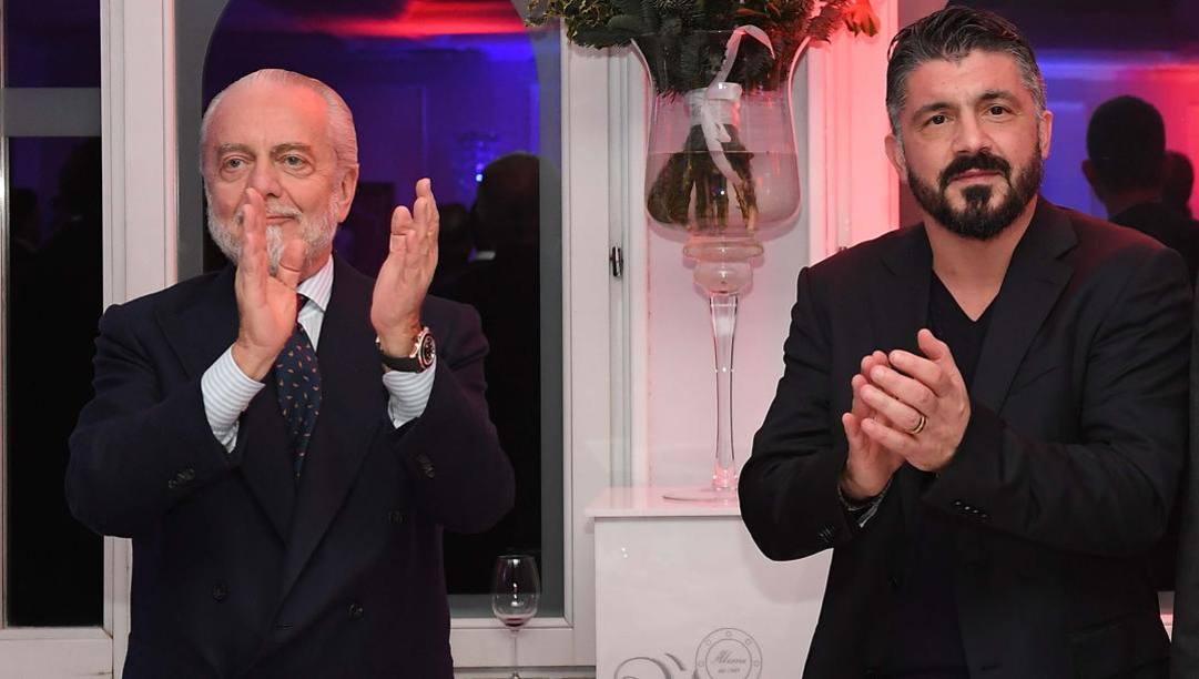 Aurelio De Laurentiis e Gennaro Gattuso. Getty