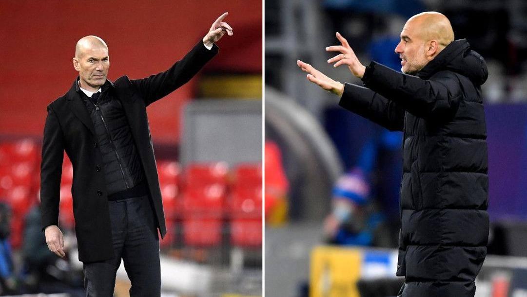 Zizou Zidane e Pep Guardiola