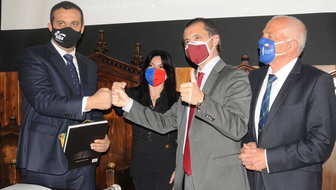 Kremlev, il sindaco Proietti, D'Ambrosi e Falcinelli