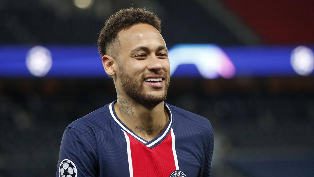 Neymar nell'ultimo match di Champions. Ap