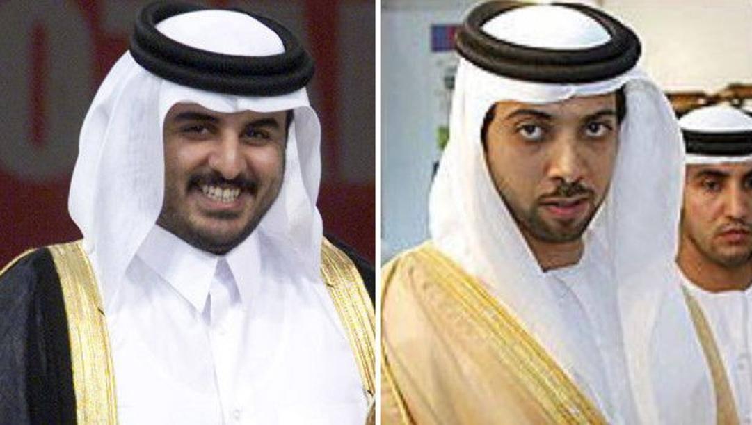 Tamim bin Hamad Al Thani, patron del Psg, e Mansour Bin Zayed Al Nahyan, proprietario del Manchester City