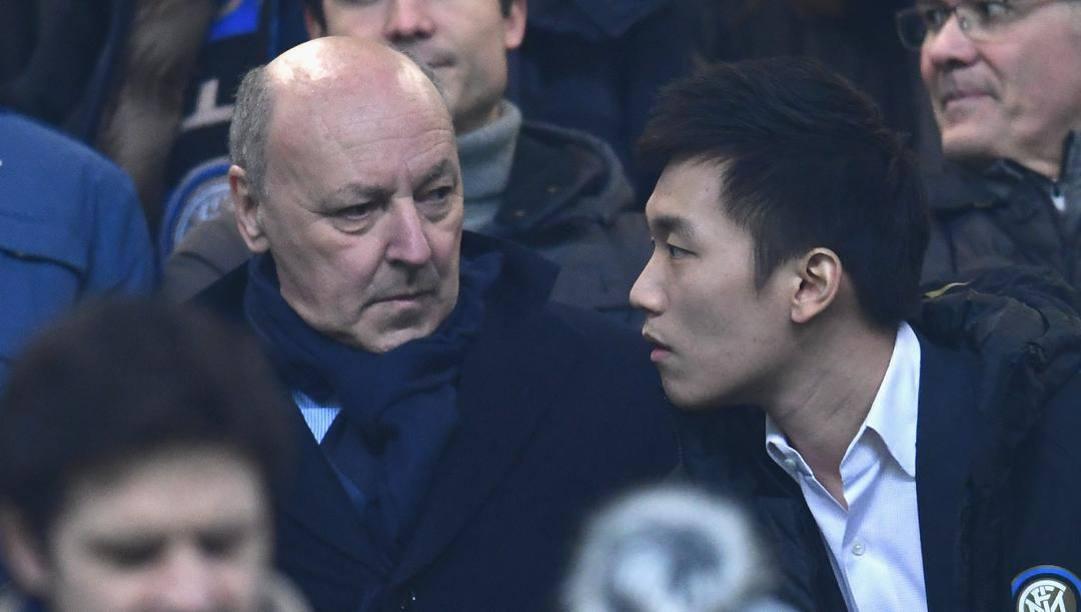 Beppe Marotta e Steven Zhang. Getty Images