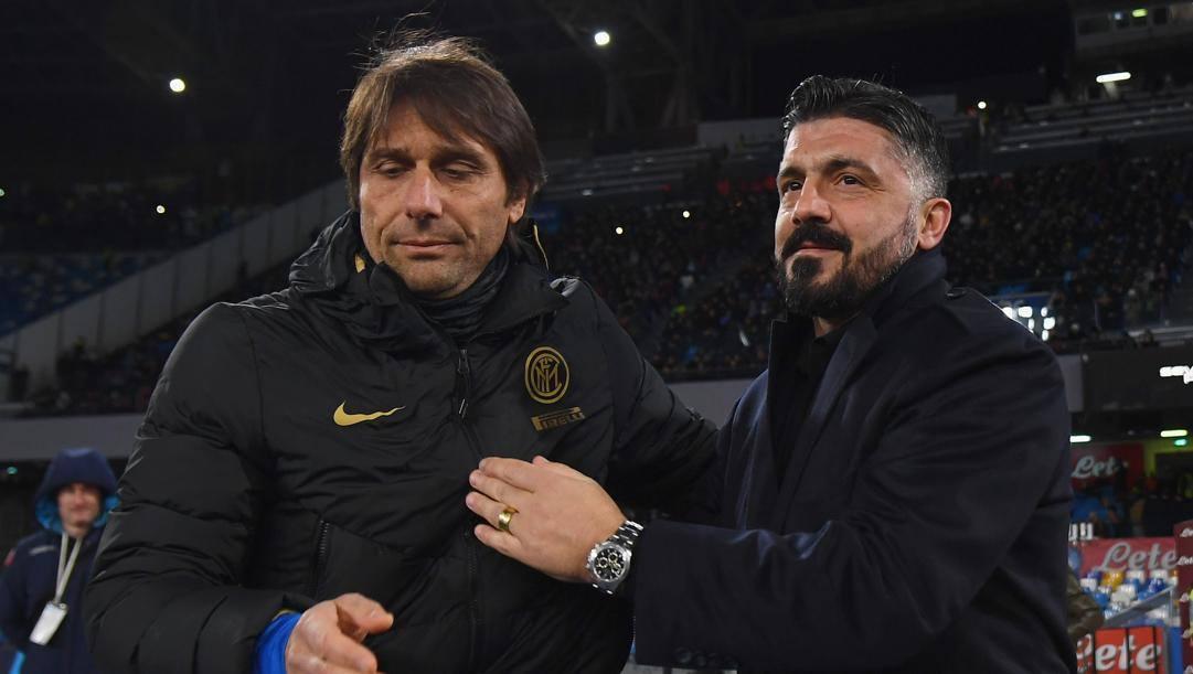 Antonio Conte e Rino Gattuso. Getty