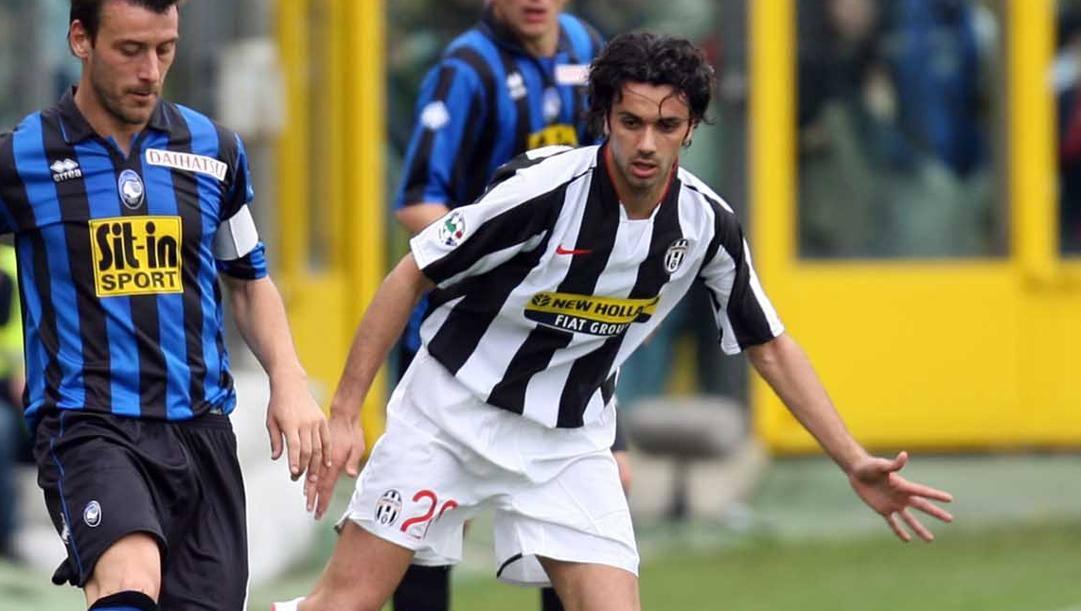 Raffaele Palladino in maglia Juve contro l'Atalanta nel 2007-08. Lapresse