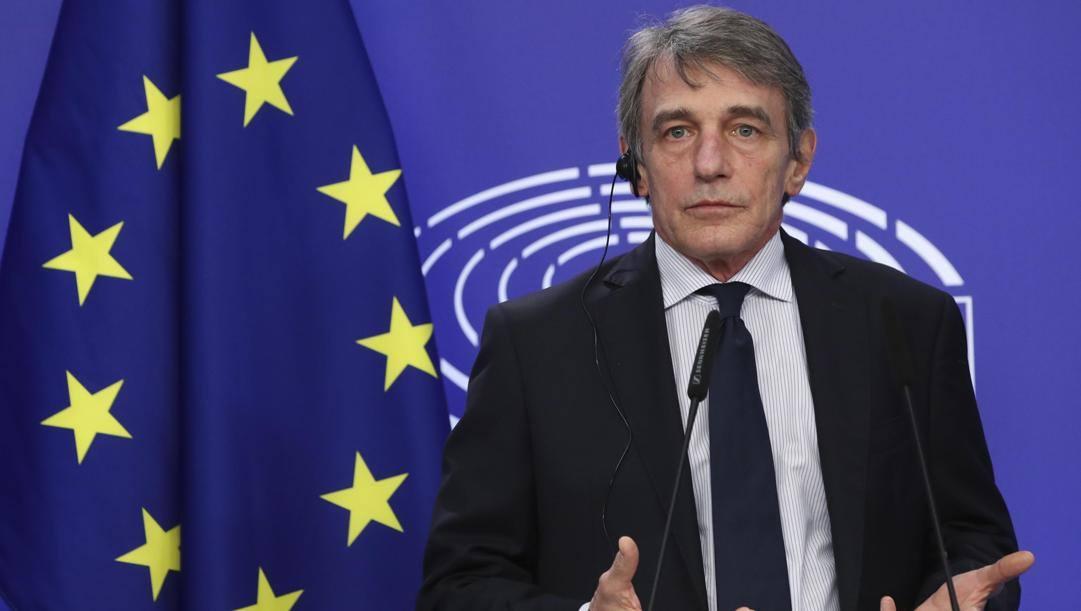 David Sassoli, 64 anni, è presidente del Parlamento europeo. Epa