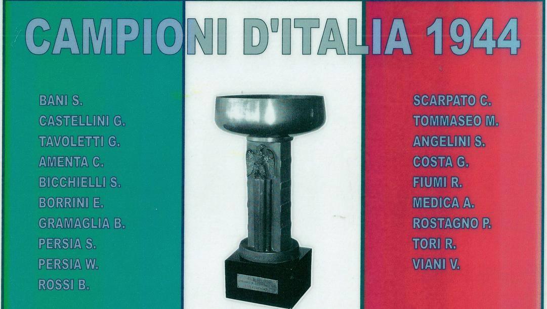 Il manifesto celebrativo dello Spezia '44