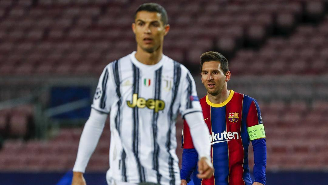 Cristiano Ronaldo e Leo Messi. Ap