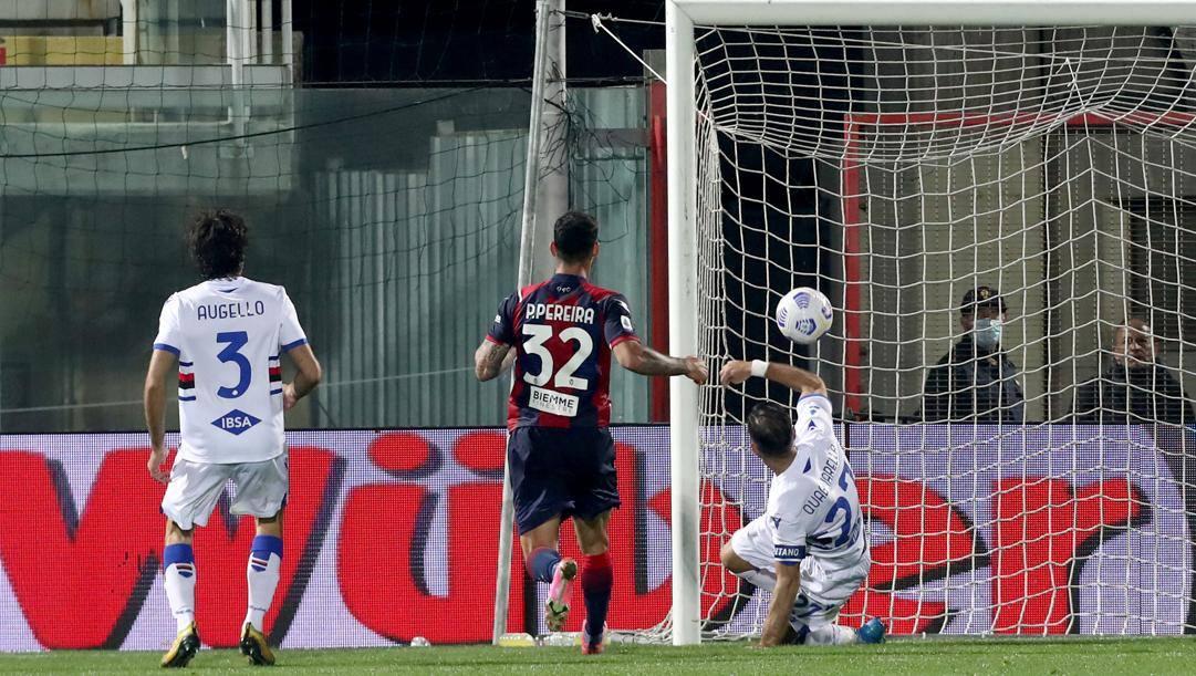 Il gol vincente di Quagliarella. Getty