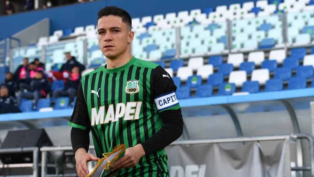Giacomo Raspadori (21 anni), decisivo nella vittoria sul Milan con una doppietta. Getty Images