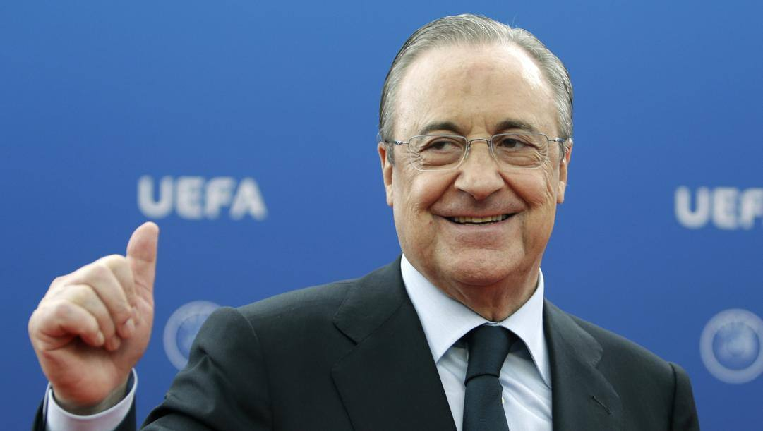 Florentino Perez, 74 anni, presidente del Real Madrid e della Superlega. AP