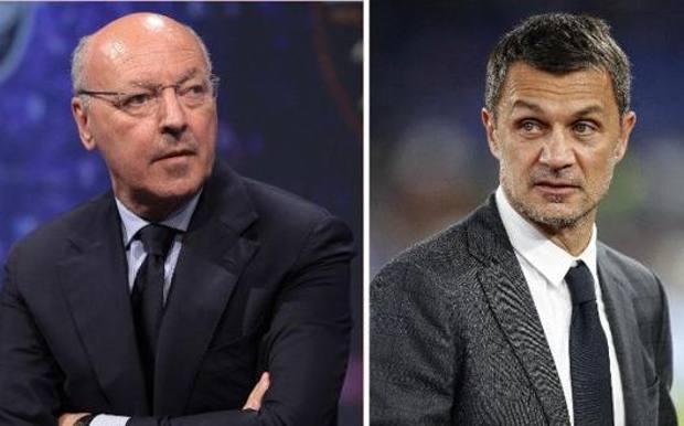 Beppe Marotta e Paolo Maldini