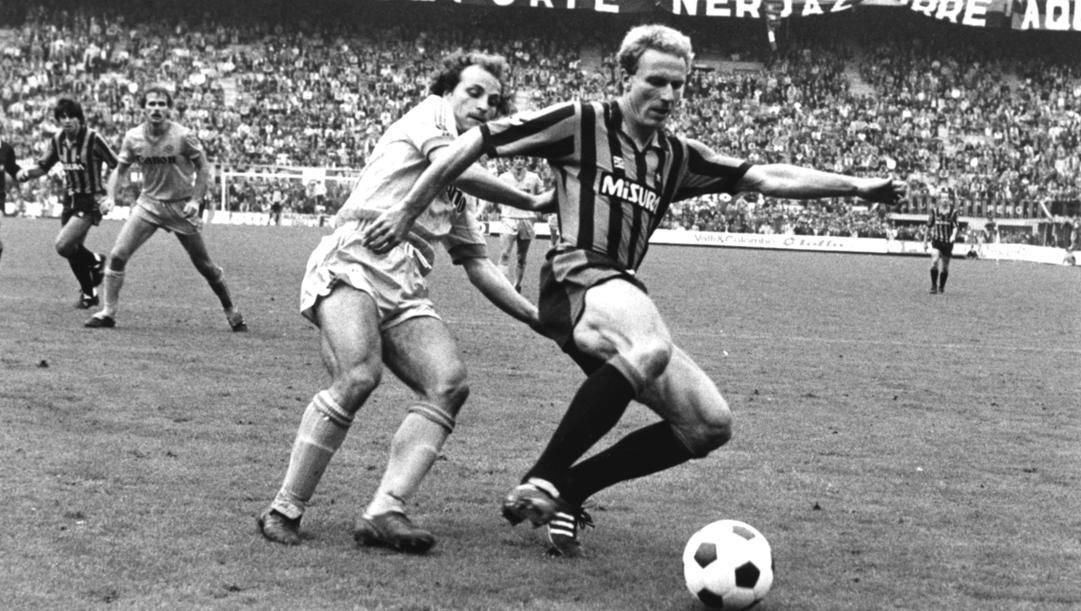 Karl Heiz Rummenigge contro il Verona il 7 ottobre 1984 (RCS)