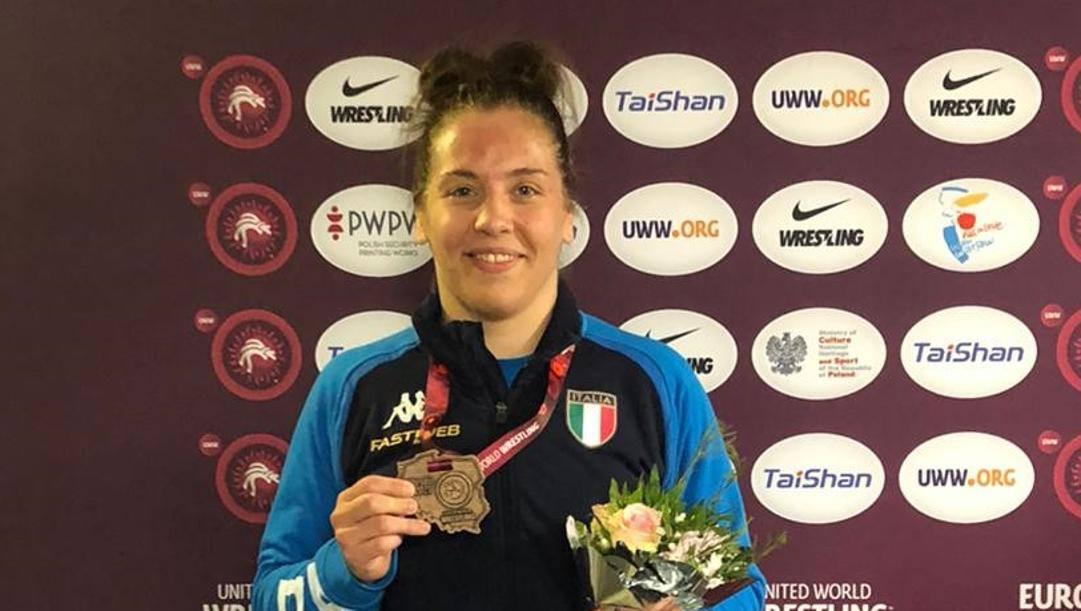 Dalma Caneva, bronzo agli Europei nei 72 kg