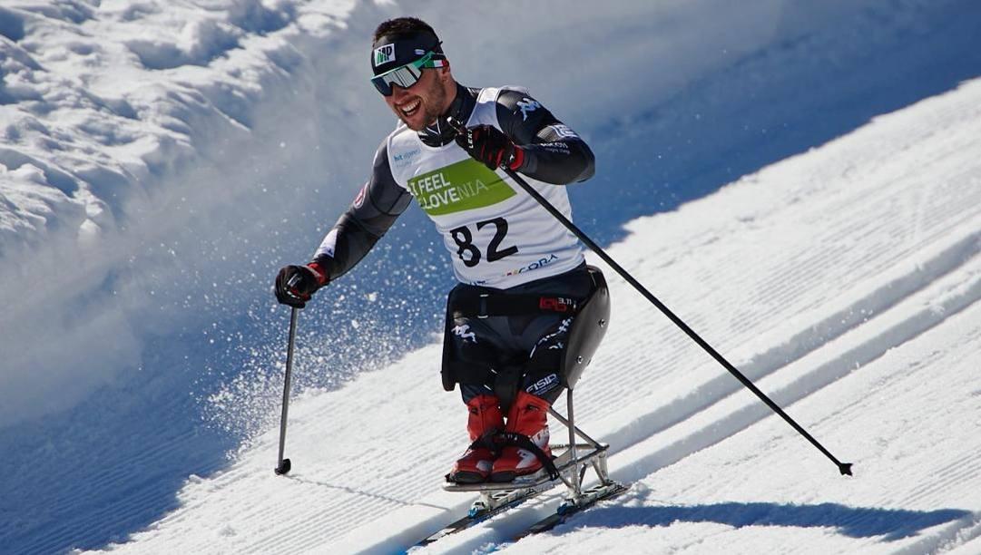 Giuseppe Romele, 28 anni, in azione nella Coppa del Mondo in Slovenia