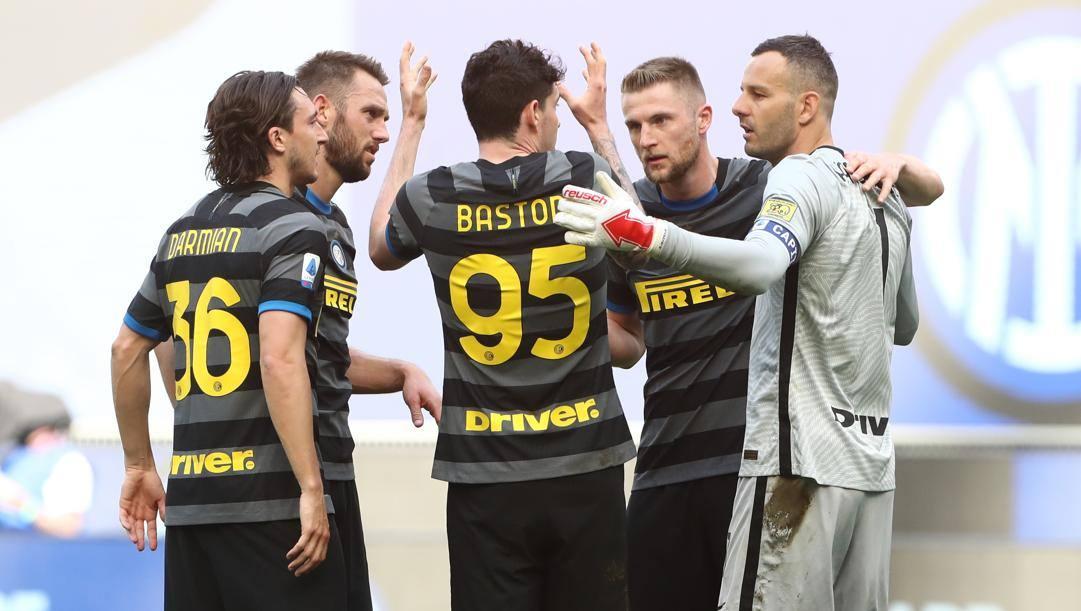 Darmian, De Vrij, Bastoni, Skriniar e Handanovic. Getty