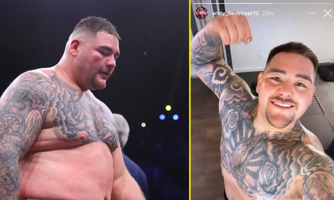 Da Instagram: Ruiz contro Joshua nel  2019 e Ruiz oggi