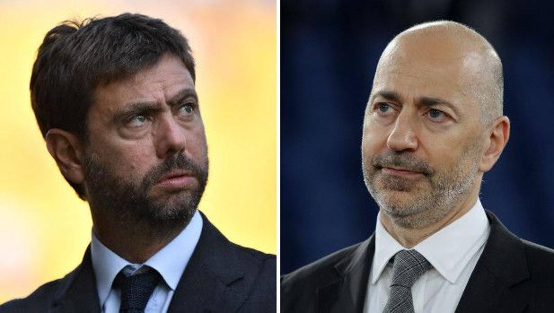 Andrea Agnelli, presidente Juventus, e Ivan Gazidis, a.d. Milan