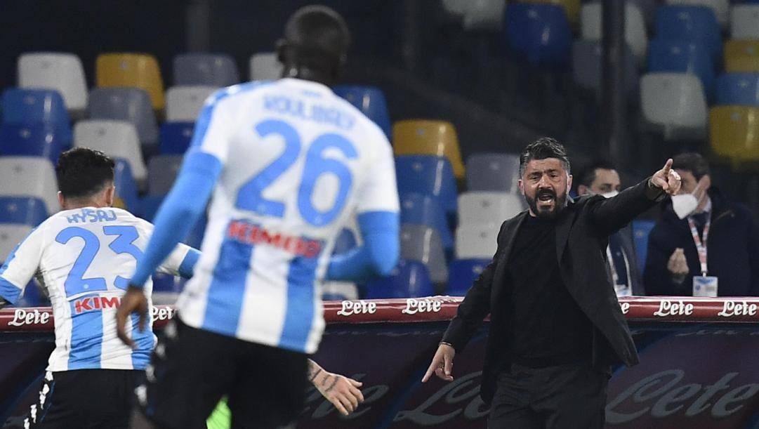 Rino Gattuso, tecnico del Napoli. Ansa