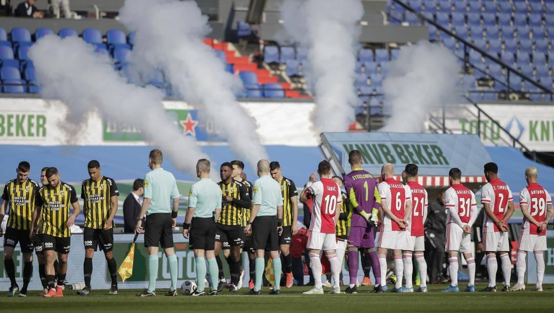 Vitesse e Ajax in occasione della recente Coppa d'Olanda. Ap