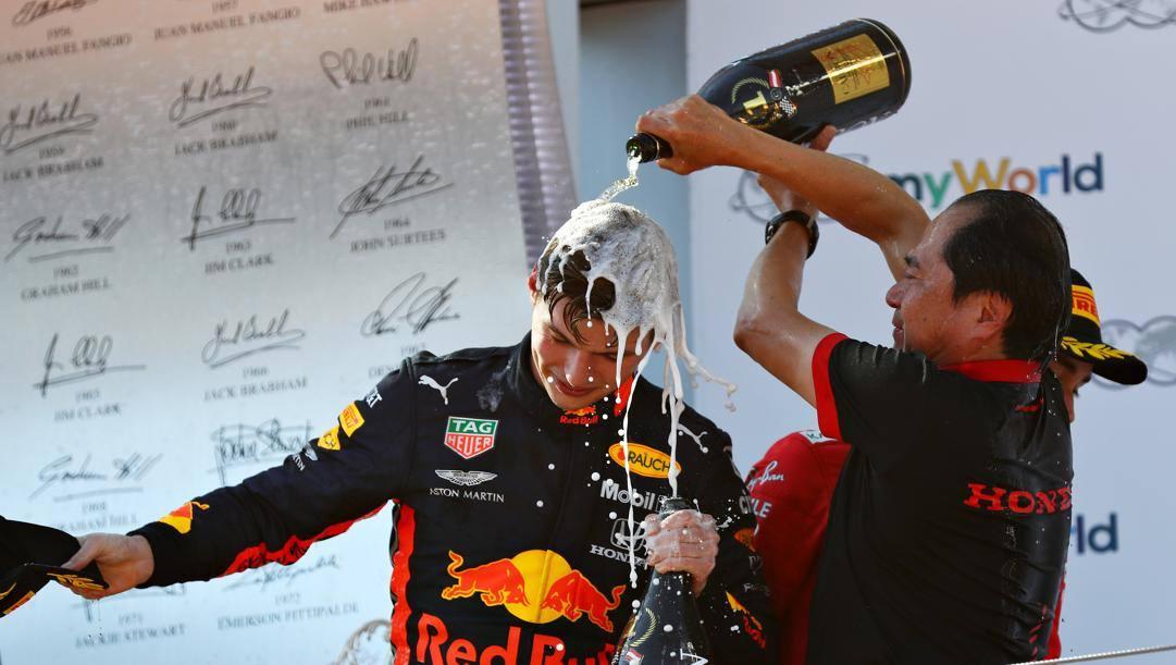 Max Verstappen con Tanabe (Honda). Getty