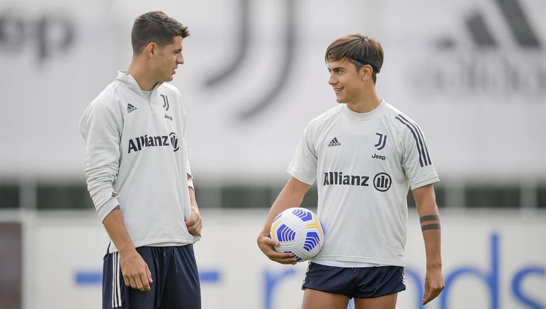 Alvaro Morata e Paulo Dybala. Getty