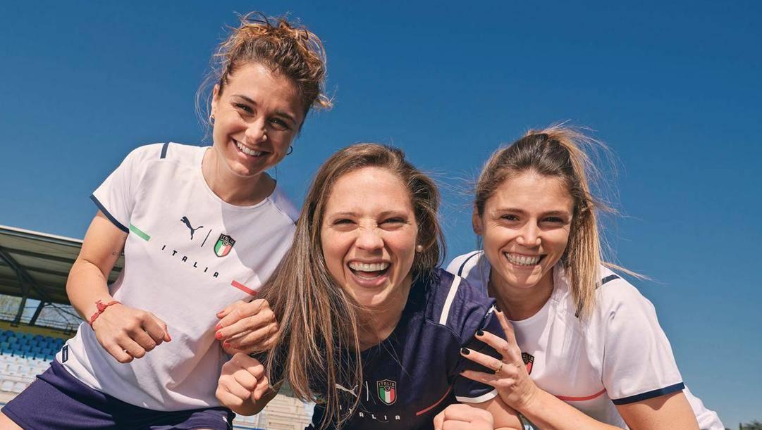 Da sinistra Cristiana Girelli,  Laura Giuliani e Cecilia Salvai (SCHIOPPA)
