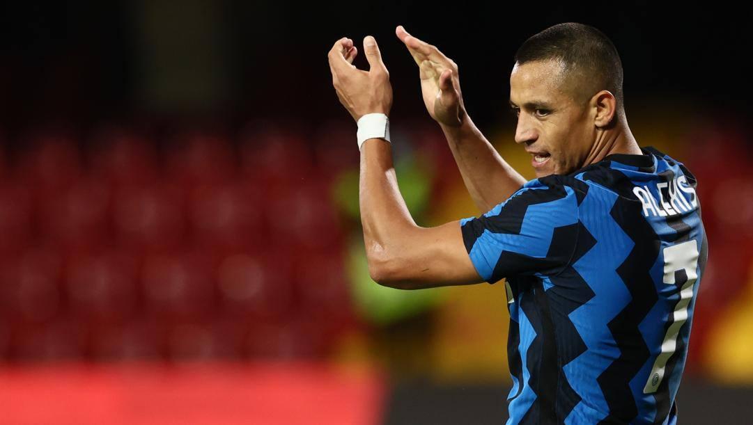 Alexis Sanchez (32 anni), seconda stagione con la maglia dell'Inter. LAPRESSE