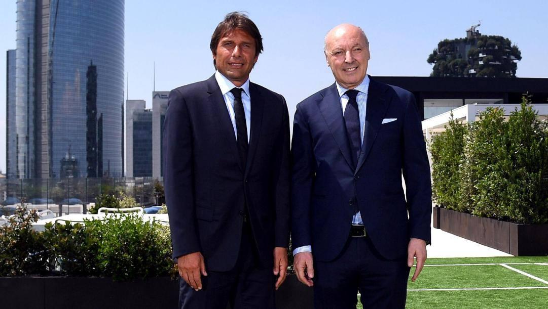 Beppe Marotta con Antonio Conte.Getty