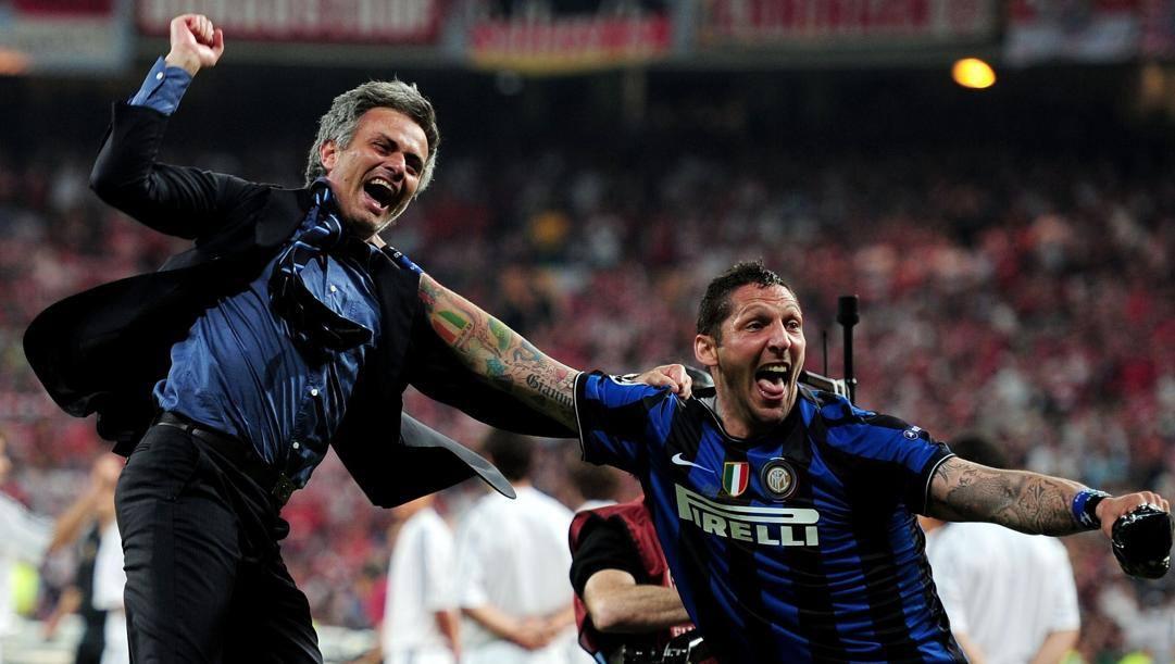 Josè Mourinho e Marco Materazzi a Madrid. Getty