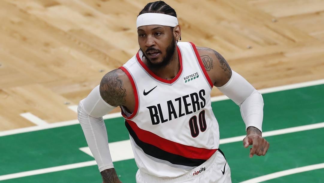 Carmelo Anthony, 36 anni, seconda stagione a Portland. LaPresse