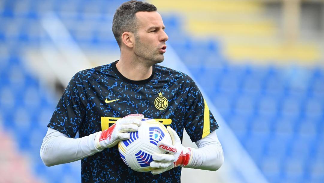 Samir Handanovic, 36 anni, all'Inter dalla stagione 2012-13: in totale ha collezionato 386 presenze e ha vinto un trofeo (lo scudetto 2021). Lapresse