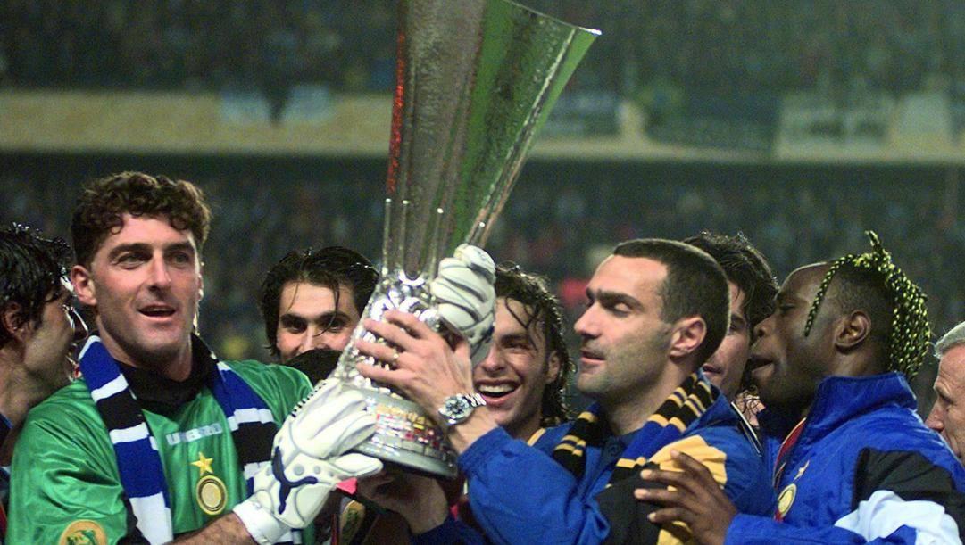 Pagliuca con Colonnese, Bergomi, West e la Coppa Uefa '98. Ap